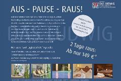 Aus – Pause – Raus! Weihnachtskampagne des Hotels DAS LUDWIG in Bad Griesbach