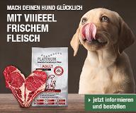 PLATINUM Premium Hundenahrung – Hunde brauchen frisches Fleisch